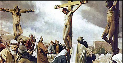Image result for The Naked Christ on the Cross