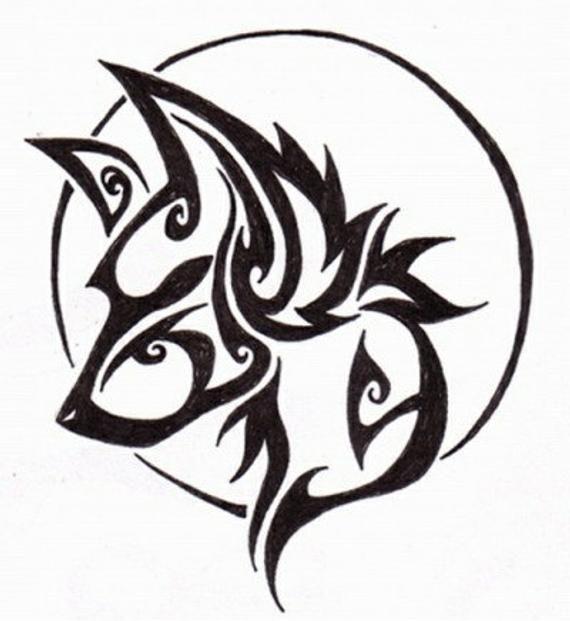 Cross Stitch Pattern Fantasy Wolf Pdf Counted Cross Stitch Etsy Wolf And Moon Tattoo Tribal Wolf Tattoo Wolf Tattoos