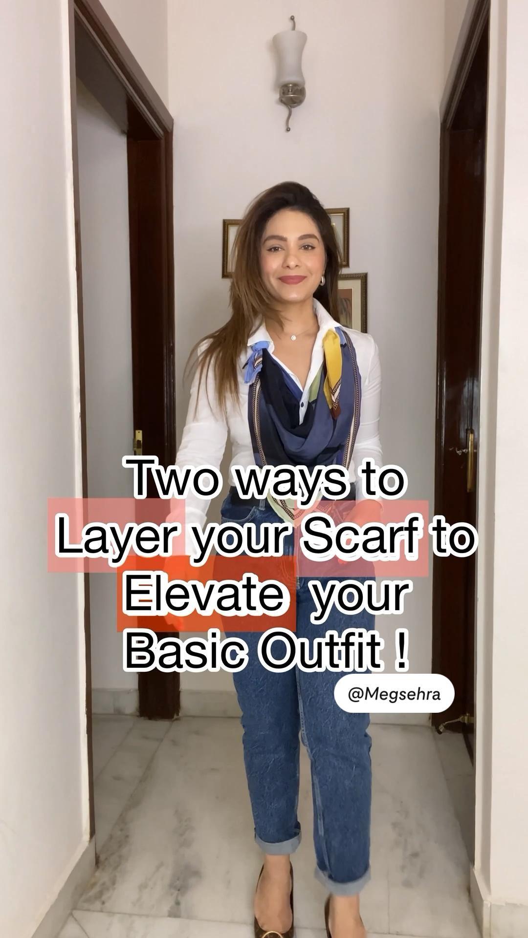 14+ Two ways to wear scarf