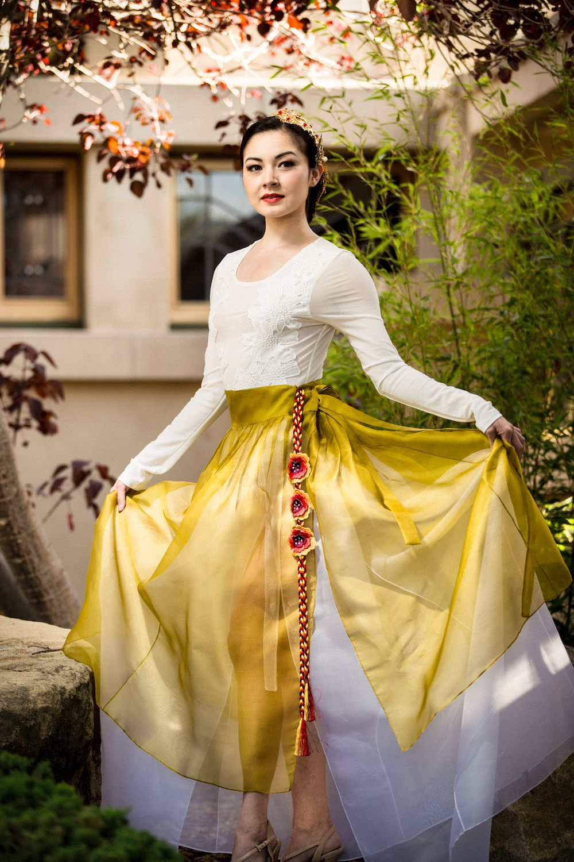 """""""Sheer Skirt Overlay"""" A beautiful versatile silk skirt"""