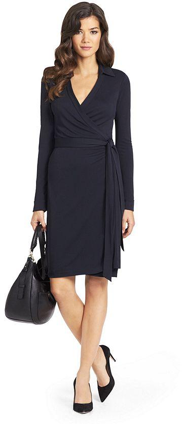 23ce8c592e7 New Jeanne Two Matte Jersey Wrap Dress  dvf  black  wrap  dress  fashion   longsleeve