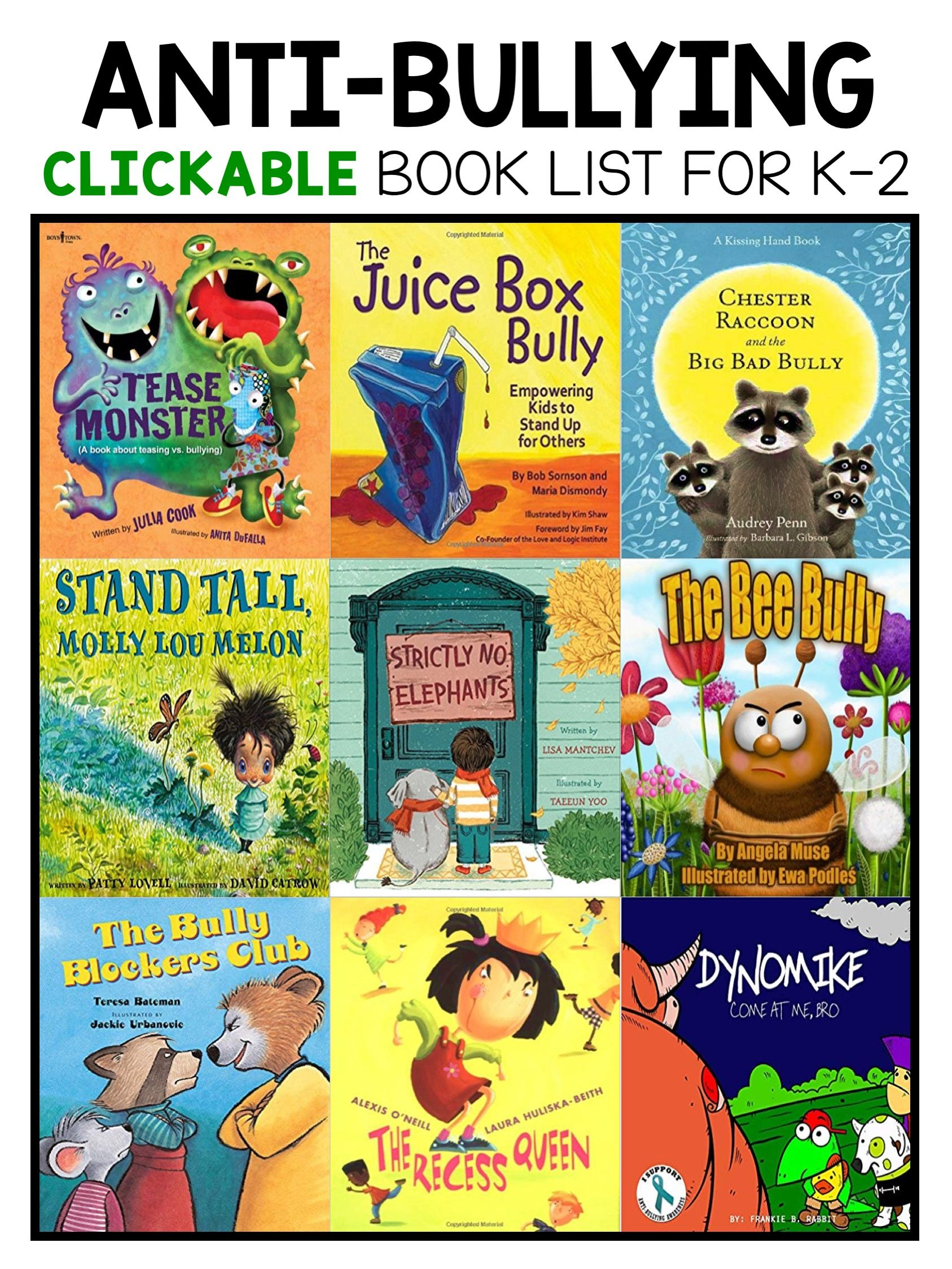 Best Anti Bullying Picture Books For Kindergarten First