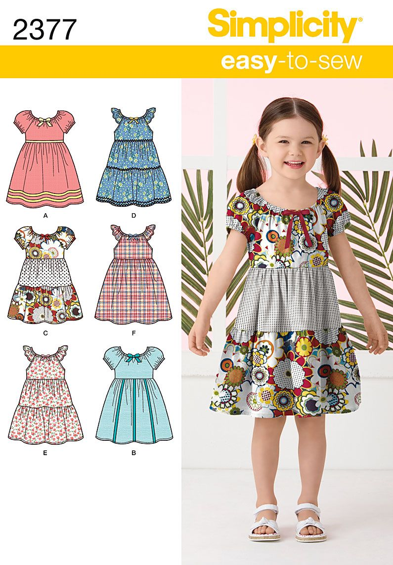 Childs Special Occasion Dress Sewing Pattern 4764 Simplicity ...