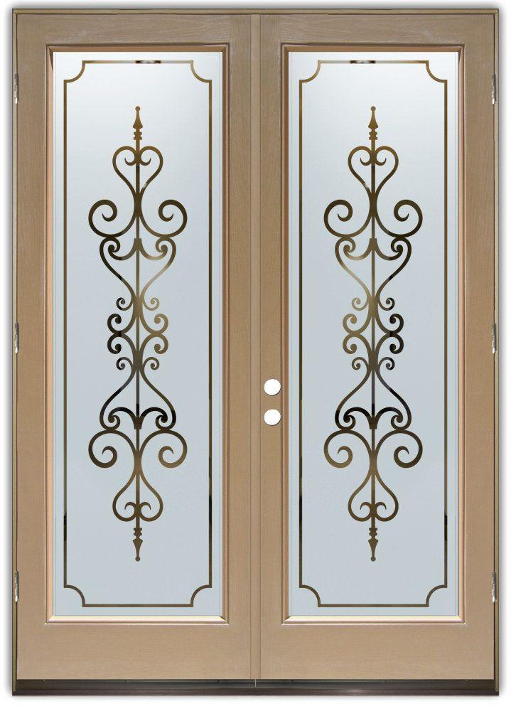 Carmona Negative Double Entry Doors Hand crafted sandblast