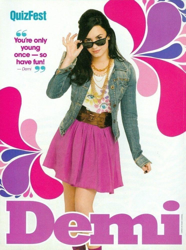 Demi Lovato Quiz Fest Magazine Pinup Mini Poster