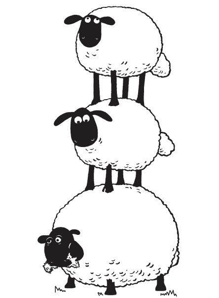 Coloring Page Shaun The Sheep ホームアイデア Sheep Drawing