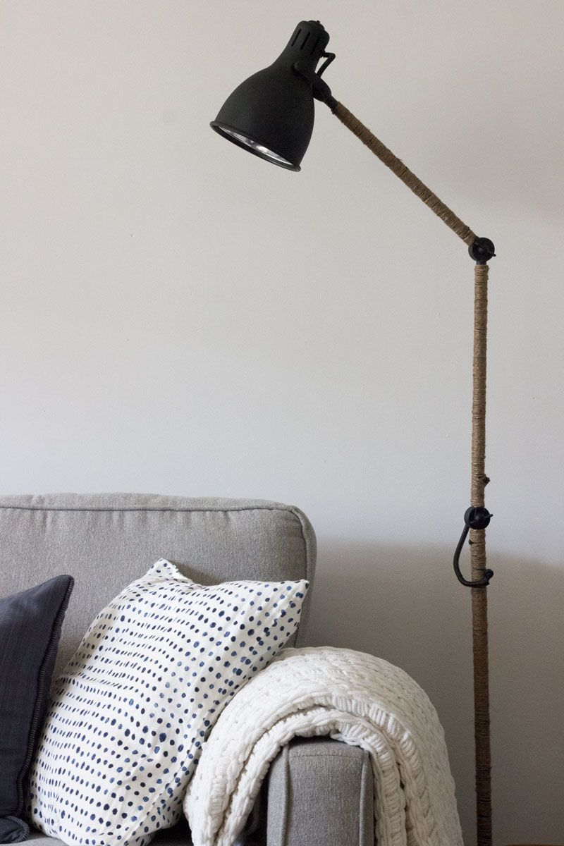 West Elm Inspired Industrial Floor Lamp An Ikea Hack