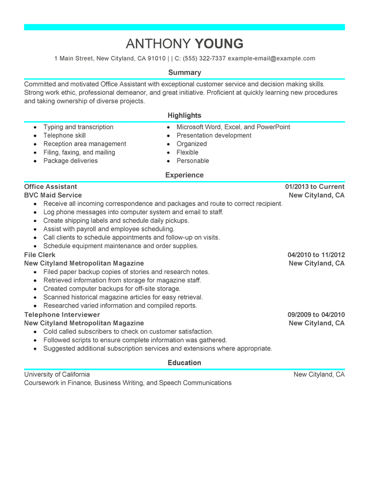 A Professional Professional resume examples, Good resume