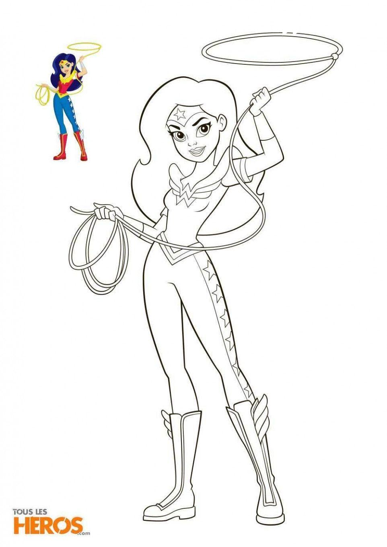 22 Dc Superhero Girls Coloring Pages  Coloriage super héros