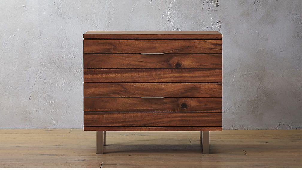 Linear Nightstand Low dresser, Wood nightstand, Dresser