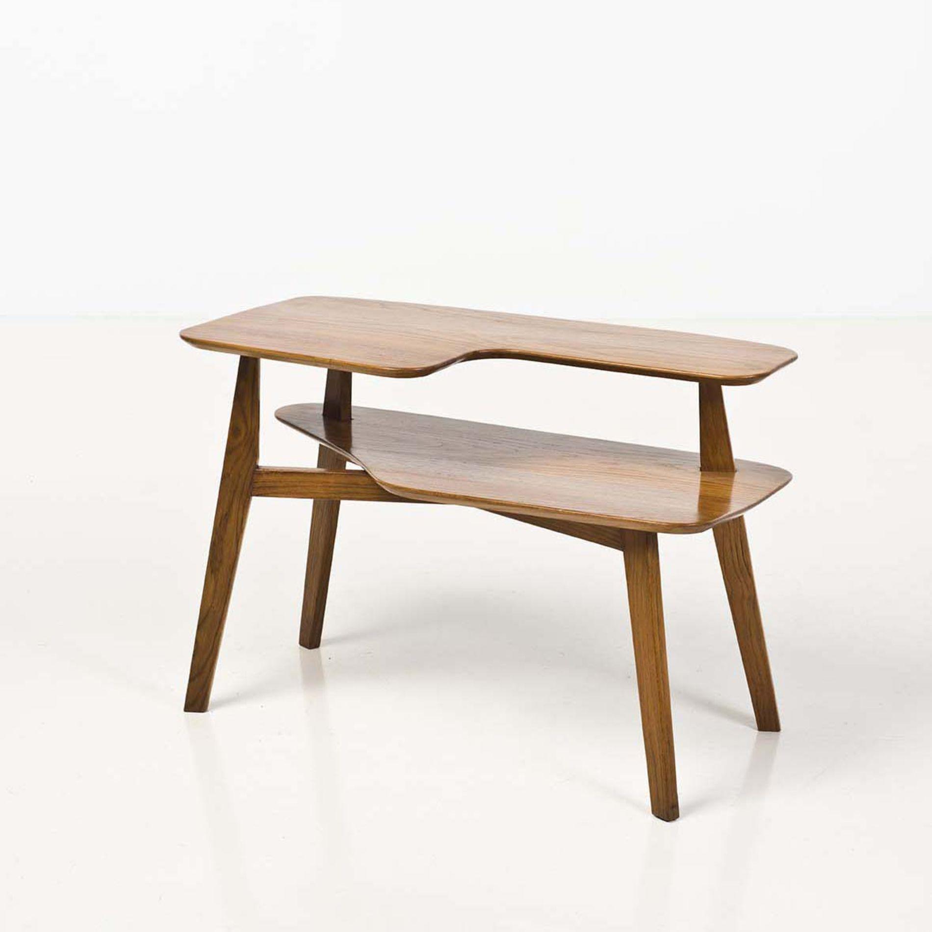 04) Table D'appoint Bois Date De Création : Vers 1955 H 64