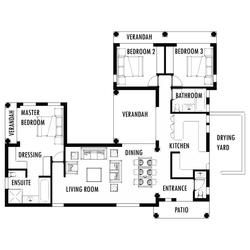 3 Bedroom 160m2 Tuscan House Plans Single Storey House Plans Free House Plans