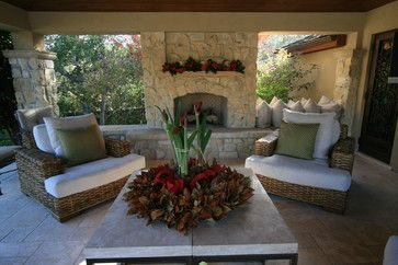 Houzz Home Design Decorating And Remodeling Ideas And Inspiration Kitchen And Bathroo Rustic Outdoor Fireplaces Table Decor Living Room Holiday House Tours
