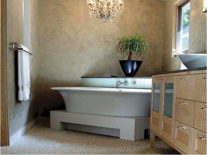 Badezimmer ohne Fliesen u2013 50 alternative Ideen für Gestaltung - gestaltung badezimmer