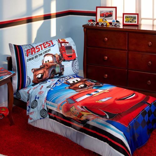Disney Cars Toddler Bed In Bag Comforter Sheet Set Bedding Boys