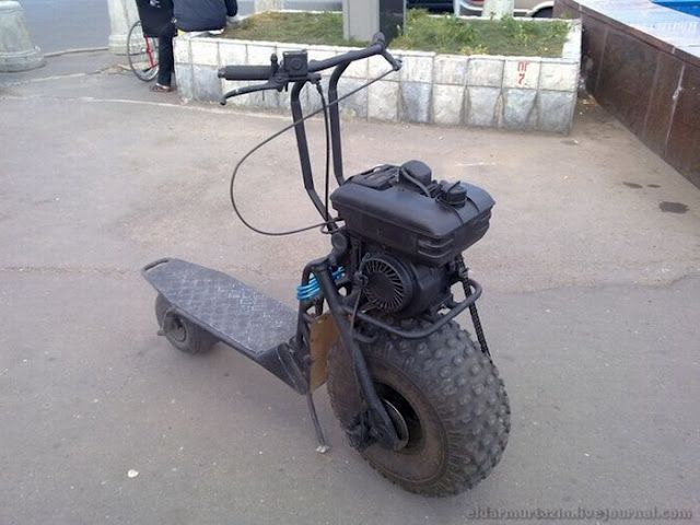 Gas Powered Scooter Big Wheel In Front My Style Pinterest