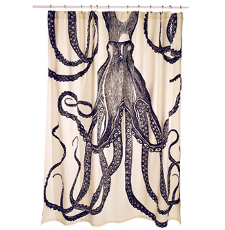 Thomas Paul Octopus Shower Curtain Octopus Shower Curtains Home