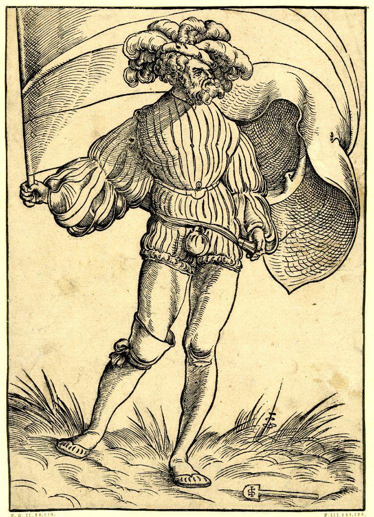 Print made by Monogrammist IS & shovel Formerly attributed to Hans Schäufelein Date1517-1537