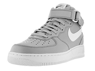 nike air force 1 uomini a metà 2007 lupo grigio / bianco (basket scarpa