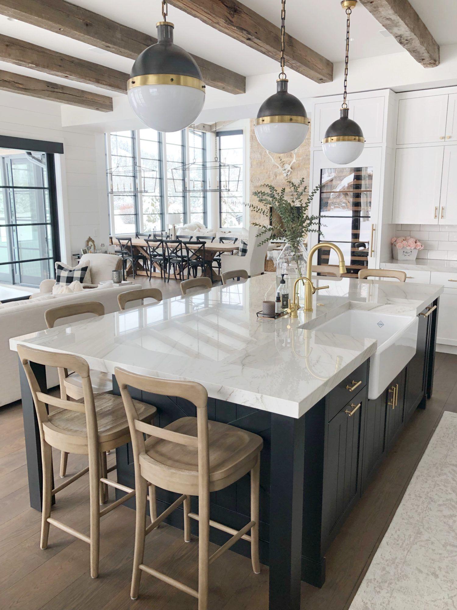 30 Unique Ceiling Farmhouse Kitchen Design Ideas You Must Have In 2020 Modern Farmhouse Kitchens Kitchen Style Farmhouse Kitchen Design