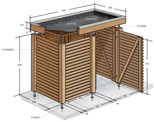 Pin by ian lyman on bin storage in 2019 pallets garden garden furniture garden design - Mobile legno fai da te ...