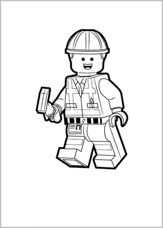 emmett lego movie coloring pages - photo#21