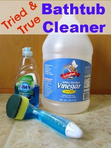 This Simple Home Bathtub Cleaner Dawn And Vinegar Success Brilliant Best Way To Clean Bathroom Inspiration Design