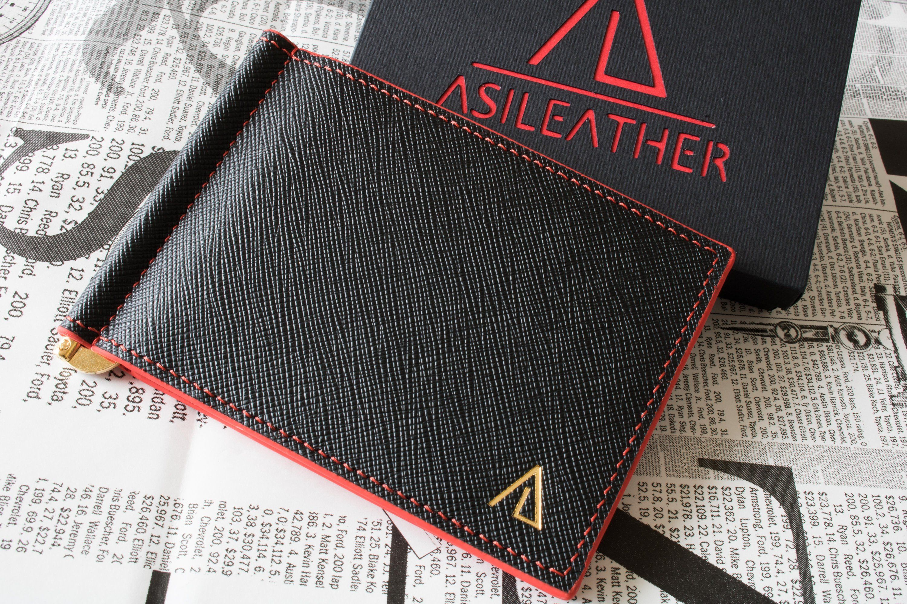 grande selezione in arrivo outlet Saffiano leather money clip wallet-cardholder.Personalized ...