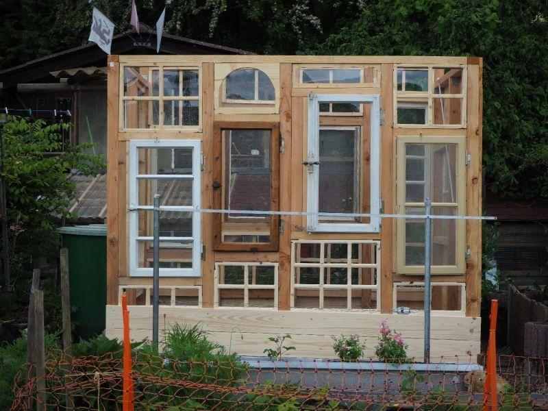 21+ Gewaechshaus aus alten fenstern 2021 ideen