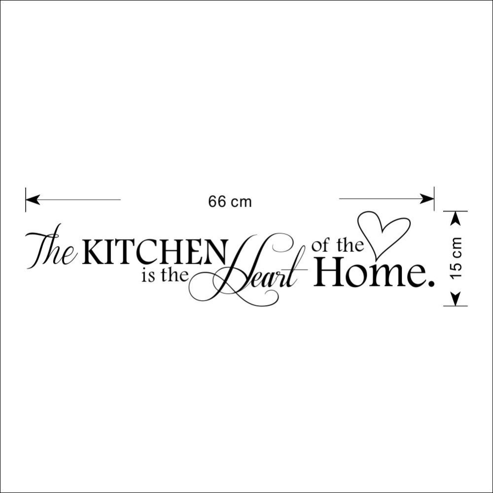 The Kitchen Is Heart Of Home Quotes And Sayings Wall Decal Removable Stickers