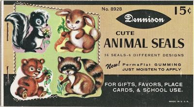Vintage woodland animal die cuts...