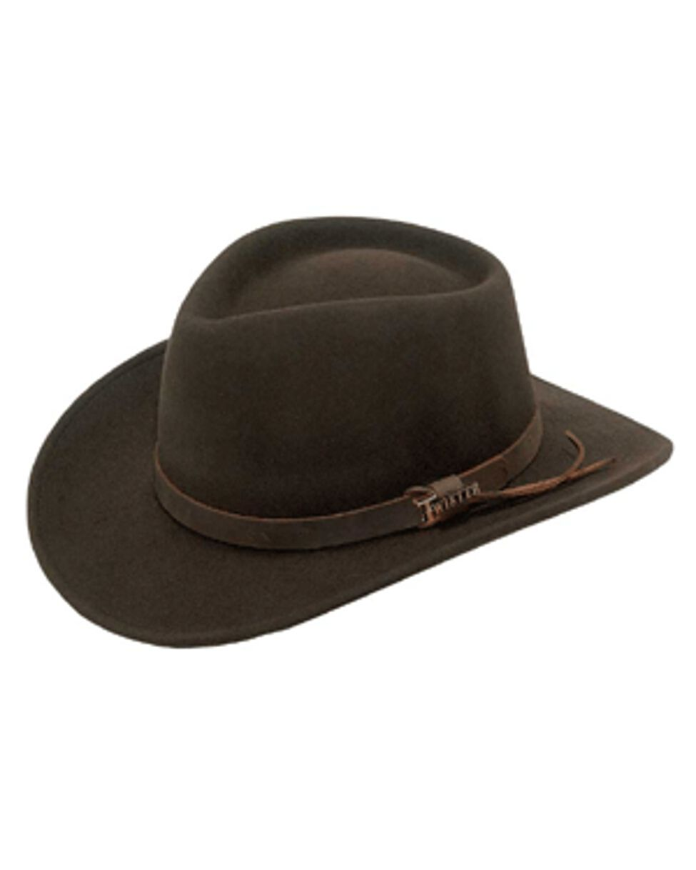 b8a46e22d34b7 Show off your western style with this Twister western hat by M   F Western  Products. Brown hatband. Handcrafted from premium materials.