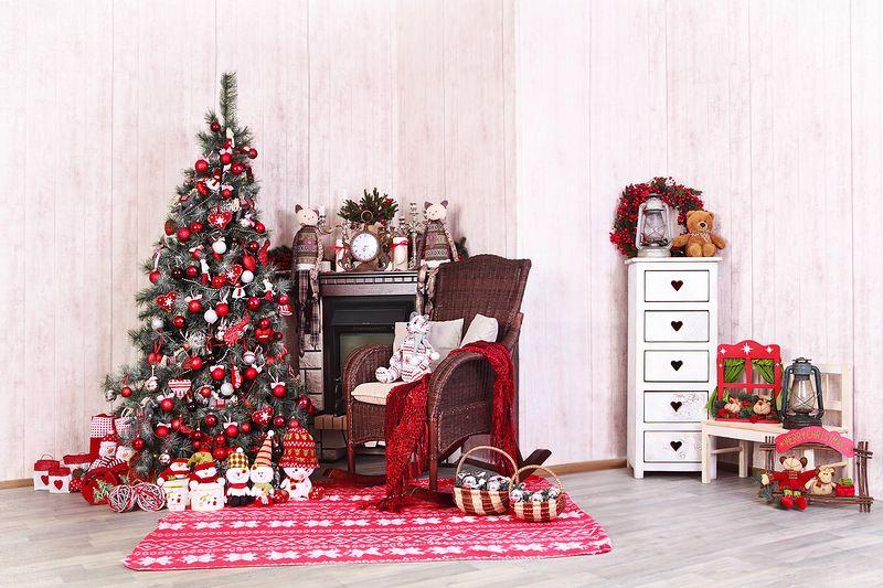 Новогодние декорации в фотостудии спб