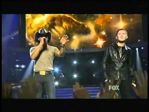 Tim Mcgraw And Scotty Mccreery With Images Tim Mcgraw American Idol Scotty Mccreery