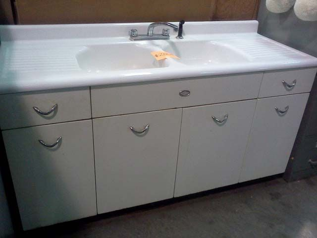 old metal kitchen sink cabinet pictures