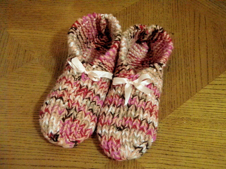 Knitting Grandma Slippers : Knitted slippers $25.00: http: www.etsy.com listing 102534151