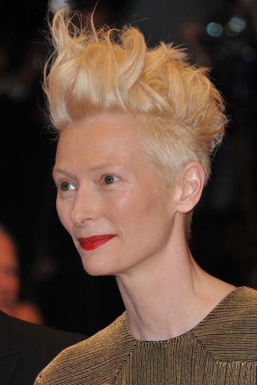 Tilda Swinton Undercut Undercut Hairstyles Edgy Hair