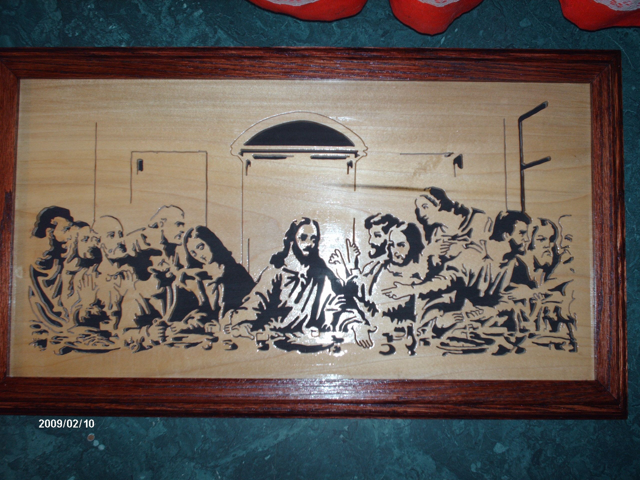 Scroll Sawed Lord S Supper Picture Scroll Saw Patterns