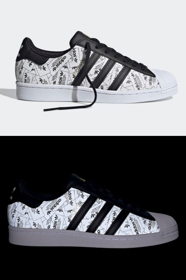 Adidas Superstar with Reflective Label Graphics