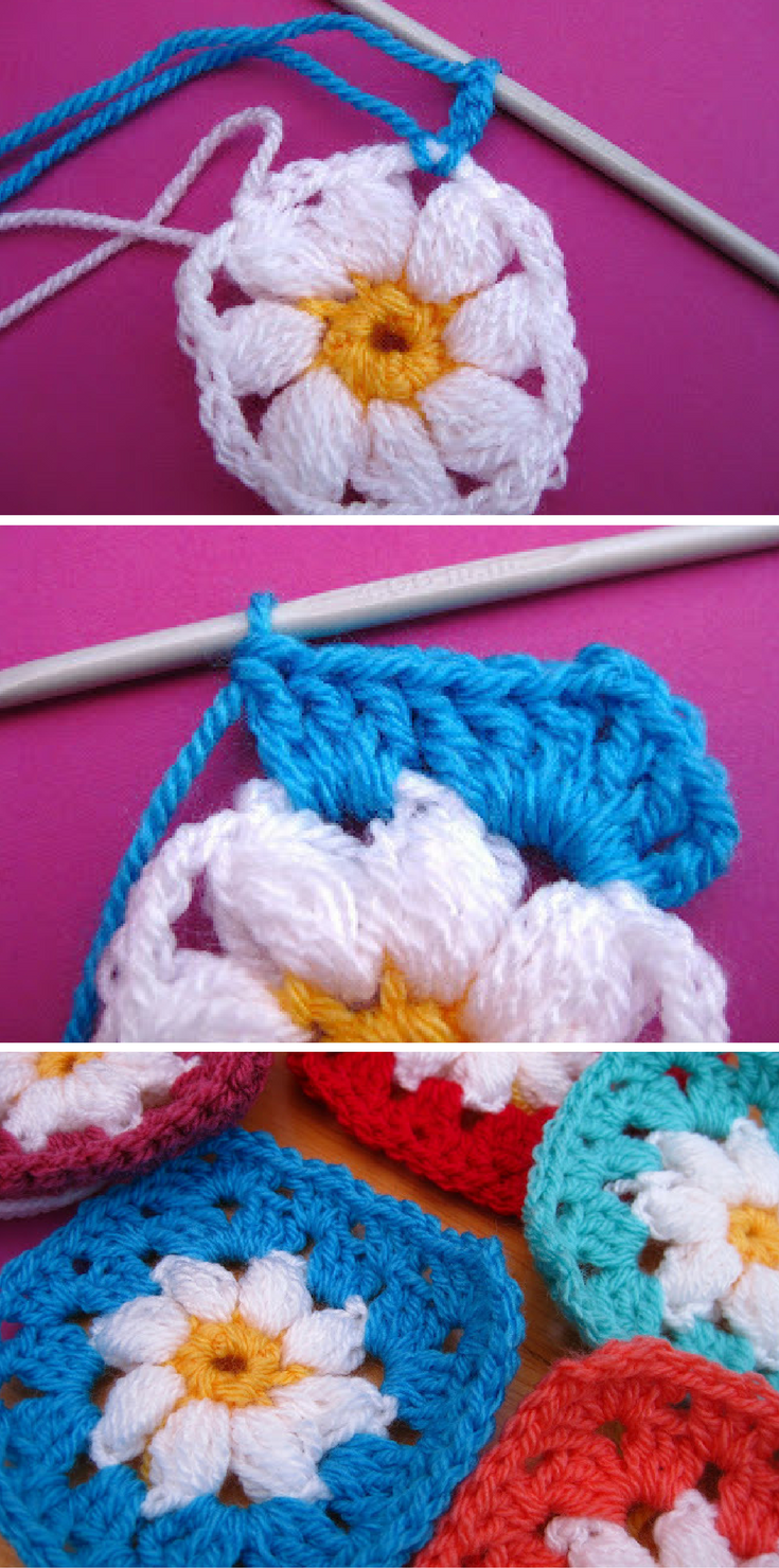 [Photo Tutorial] Simple Daisy Granny Square Crochet Pattern With Lots Of Pictures To Help You Master It!