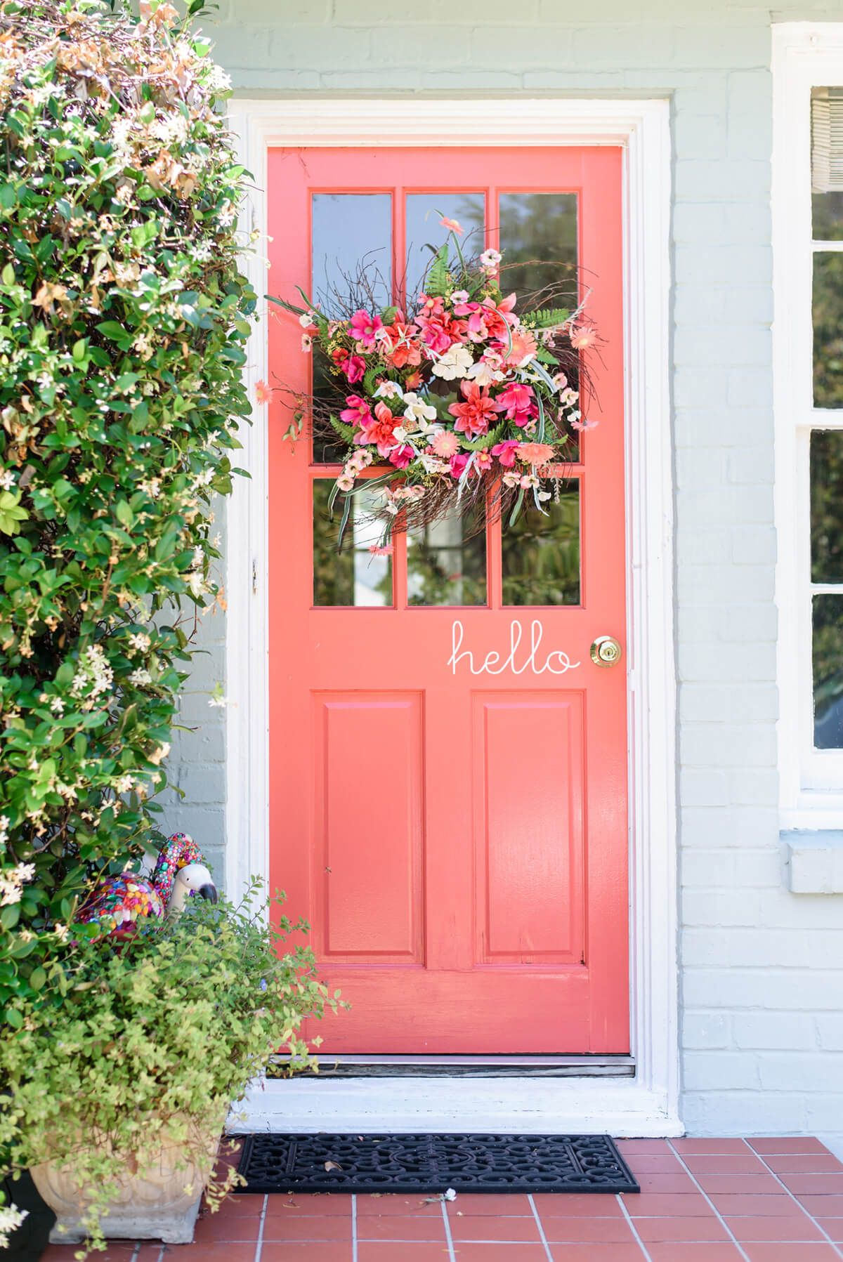 pretty in pink and picket designs home decor coral front doors rh pinterest com