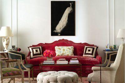 Lovely custom Oscar de la Renta couch
