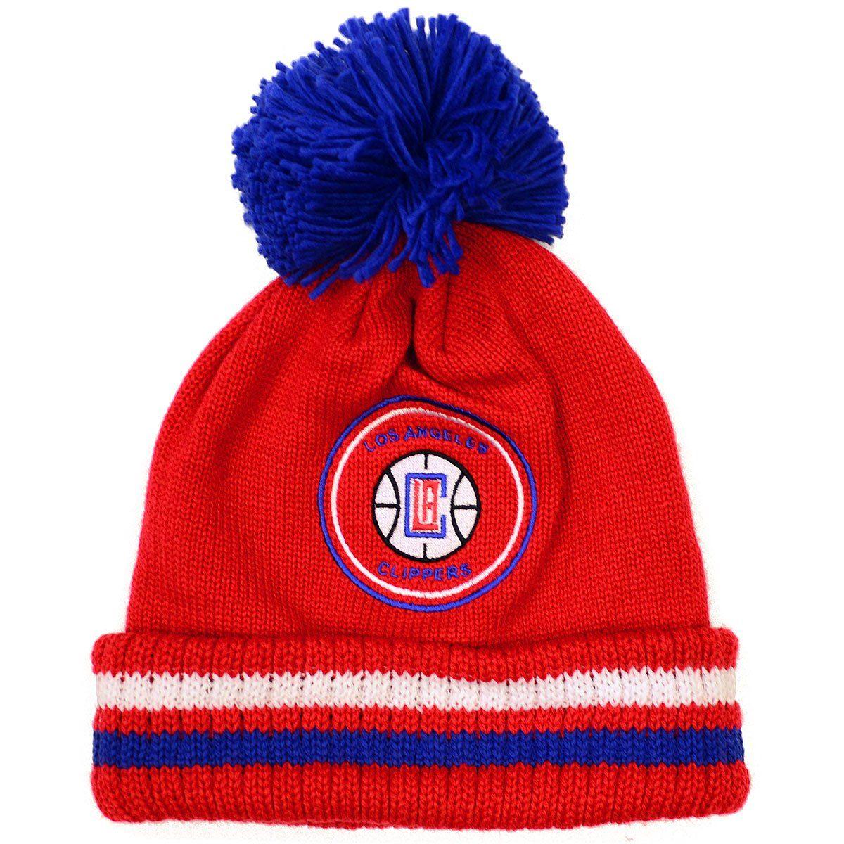 buy online 756e1 35eb7 NBA Mitchell Ness Big Man Hi Five Knit Hat Pom (OSFM, Los Angeles Clippers