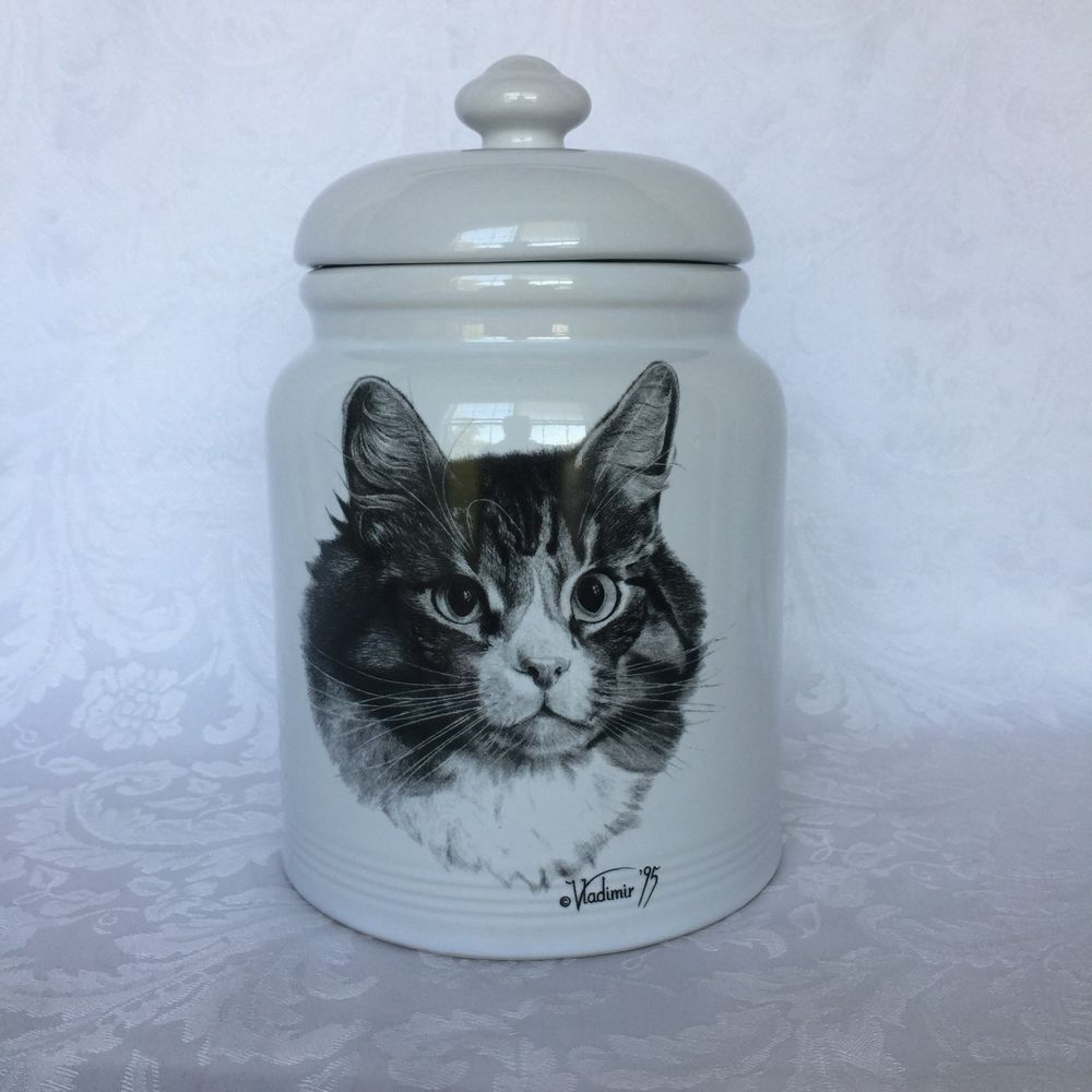 Cookie Jar Maine Entrancing Rosalinde Vladimir Tzenov Cat Maine Coon Canister Treat Cookie Jar Inspiration Design