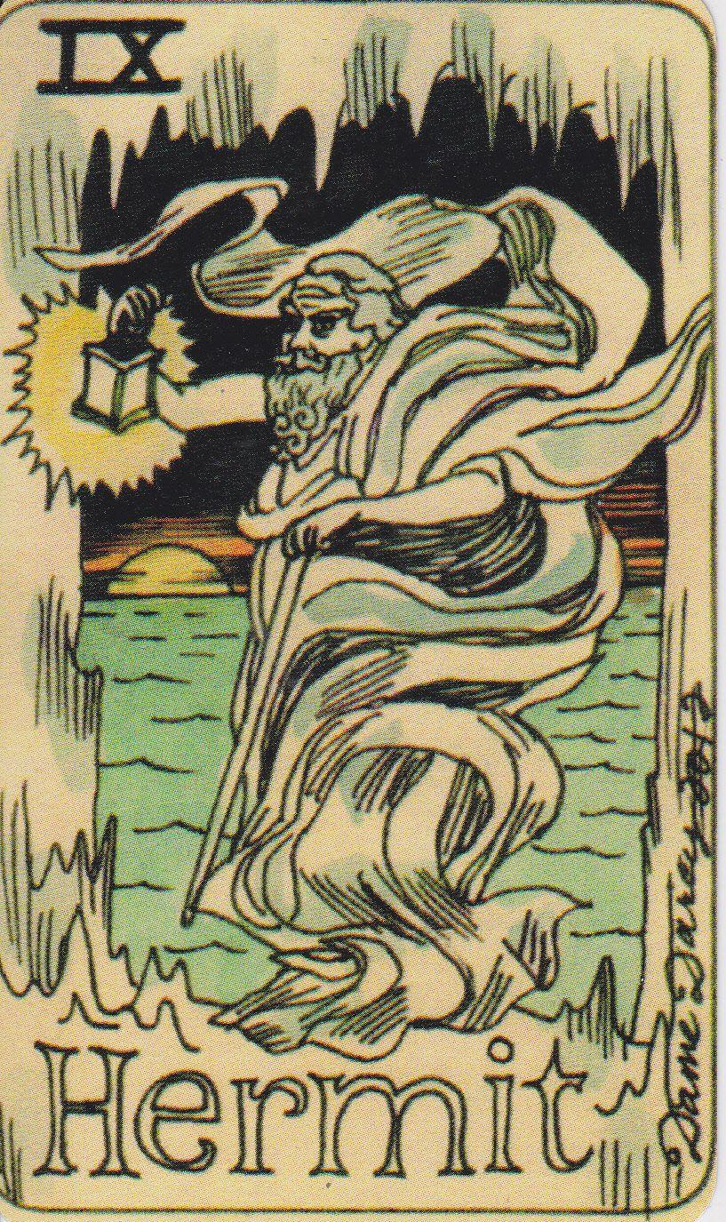The Hermit. Major Arcana. Tarot