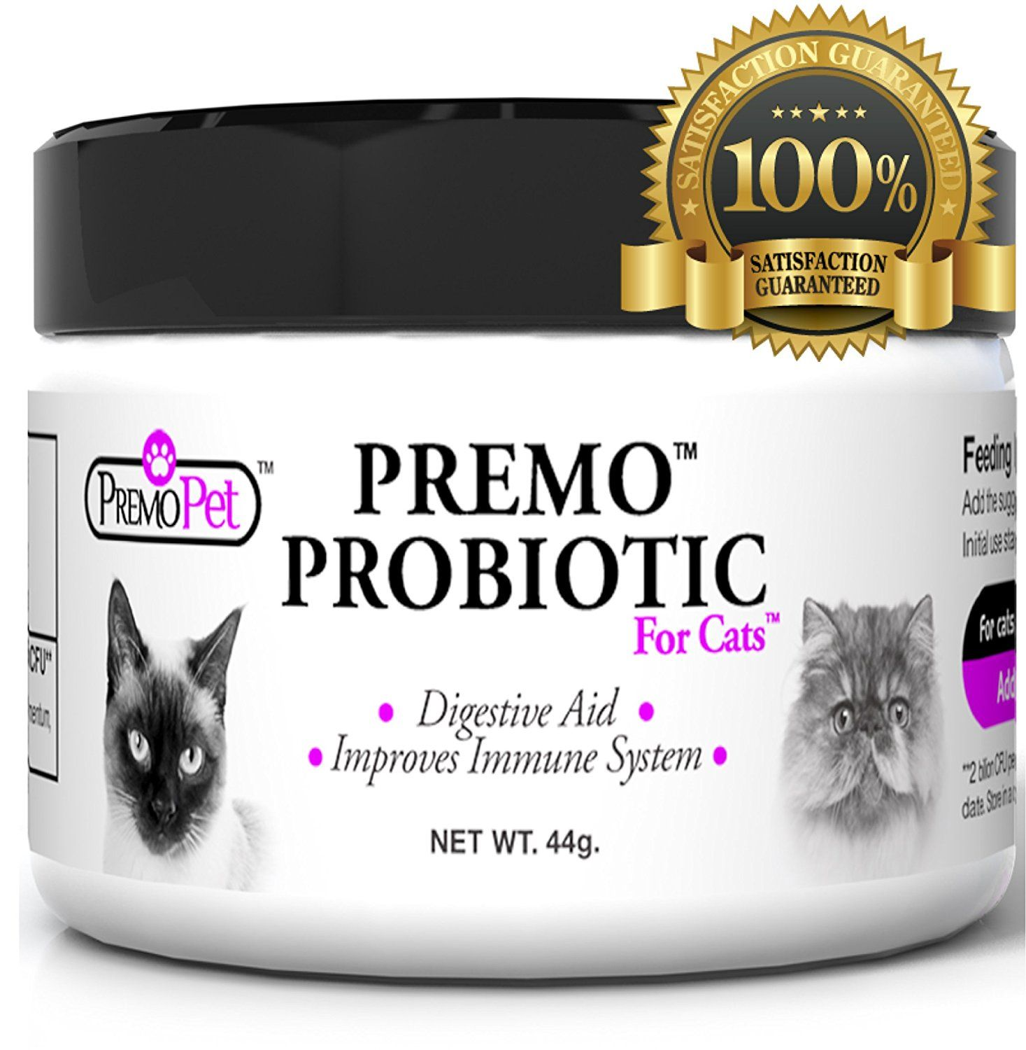 Cat Probiotics 100 Satisfaction Guarantee Natural Choice Plus Prebiotics Made In Usa Best For Diarrhea Probiotics For Cats Digestion Aid Healthy Cat