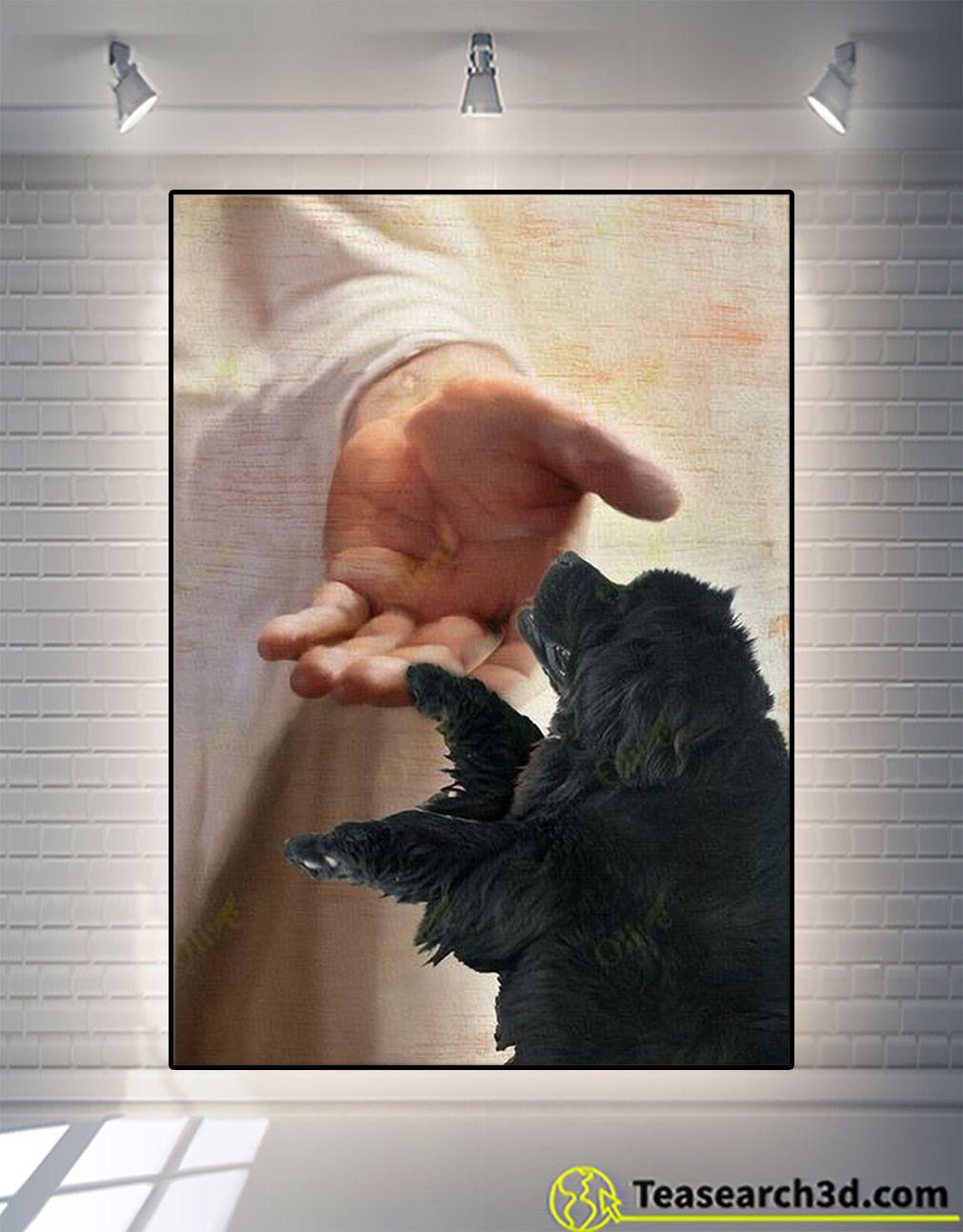 TREND God newfoundland take my hand canvas