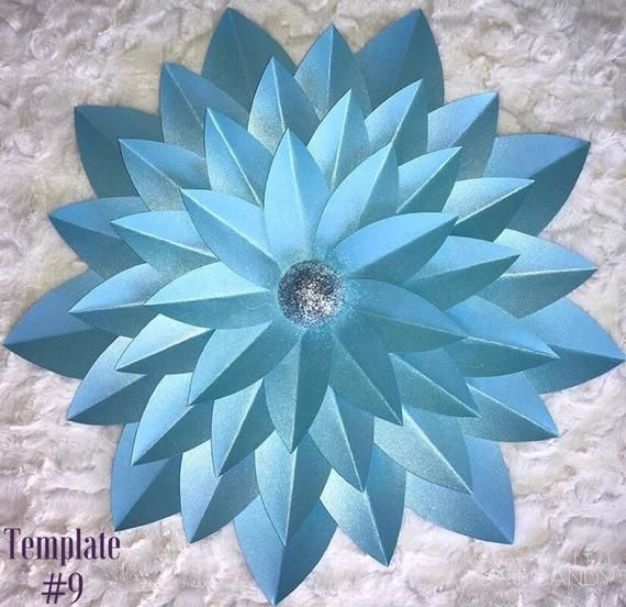 Paper Flower Template, paper flowers, Diy flowers, large flowers #largepaperflowers