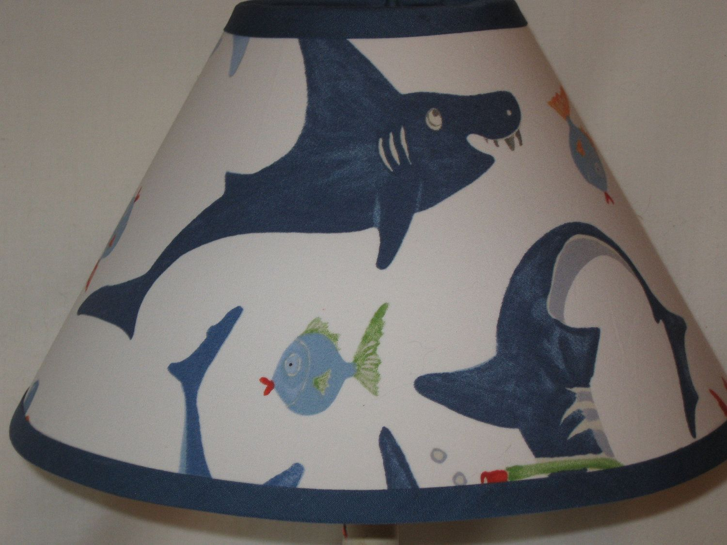 Boy S Shark Lampshade M2m Pottery Barn Kids Bedding 25