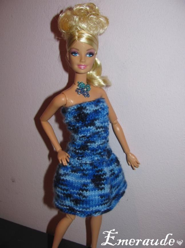 tricoter robe barbie simple